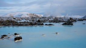 Blå lagun nästan Grindavik, Island, Europa arkivfoto