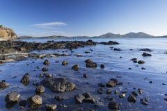 Blå lagun, Nacula ö, Yasawa öar, Fiji Royaltyfri Foto