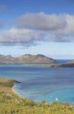 Blå lagun, Nacula ö, Yasawa öar, Fiji Royaltyfria Foton