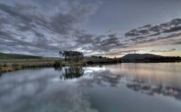blå lake Royaltyfria Foton