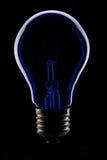blå lampa Royaltyfri Foto