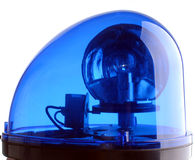 blå lampa Arkivbild
