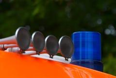 blå lampa för brand ii Royaltyfri Fotografi