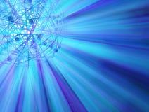 blå lampaomlopp Arkivbilder