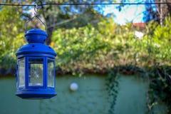 Blå lampljus Royaltyfria Foton