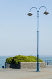 Blå lampstolpe för tappning Royaltyfri Foto