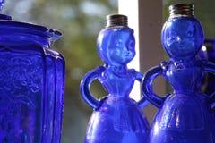 blå landsexponeringsglasdamtoalett Royaltyfria Bilder