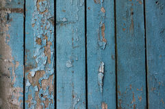 Blå lantlig gammal wood bakgrund Royaltyfri Bild