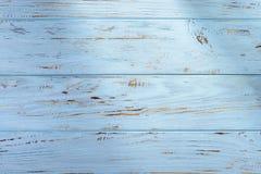 Blå lantlig trätextur Royaltyfria Foton