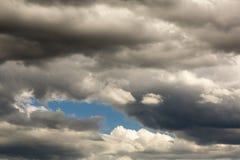 Blå lapp på himlen Royaltyfria Foton