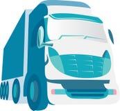 blå lastbil Royaltyfri Fotografi