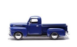 blå lastbil för bilhackatoy upp Royaltyfri Bild