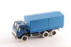 blå lastbil för samlingsmodellscale Royaltyfria Bilder