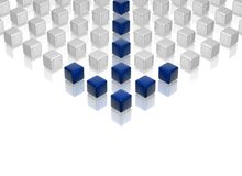 blå ledare Arkivbild