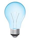 blå lightbulb stock illustrationer
