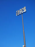 blå lightingskystadion Royaltyfri Fotografi