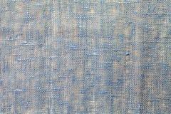 Blå linnetextur Royaltyfria Bilder