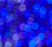 Blå ljus blur. Arkivfoto