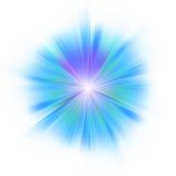 blå ljus eps stjärna för 8 Royaltyfri Bild