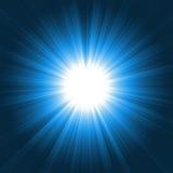 blå ljus lightburst Royaltyfri Bild