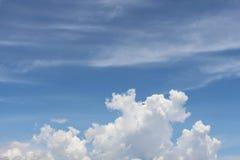 blå ljus oklarhetssky Royaltyfri Bild