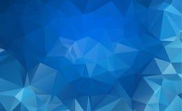 Blå ljus Polygonal låg bakgrund för polygontriangelmodell royaltyfri illustrationer