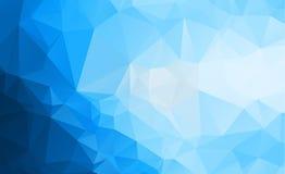 Blå ljus Polygonal låg bakgrund för polygontriangelmodell Arkivbilder