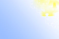 blå ljus pusselyellow för abstrakt bakgrund Royaltyfria Bilder