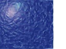 Blå ljus signalljus på geometrisk modell arkivbild