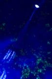 Blå ljus stråle Royaltyfria Bilder
