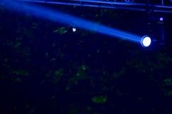 Blå ljus stråle Royaltyfria Foton