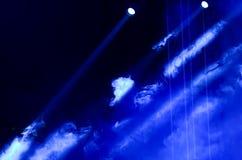 Blå ljus stråle Arkivbild