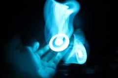 Blå ljus strimma Arkivbilder