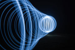 blå ljus tunnel Royaltyfria Bilder