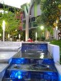 Blå ljus vattenfall Royaltyfri Fotografi