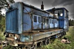 blå loco Fotografering för Bildbyråer