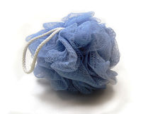 blå loofah Arkivfoton