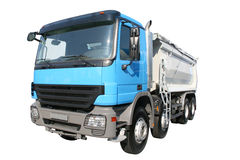 Blå lorry   fotografering för bildbyråer