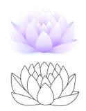 blå lotusblomma stock illustrationer