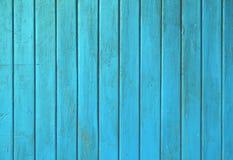 Blå målad träplankapanel för kricka grunge Fotografering för Bildbyråer