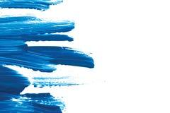 blå målarfärg Arkivfoto