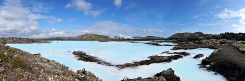 blå månad för iceland julilagun arkivfoto
