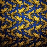 blå mörk guldrnament för bakgrund royaltyfri illustrationer