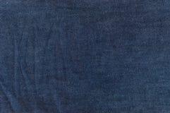 blå mörk jeanstextur Arkivbilder
