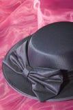 blå mörk klänninghattdamtoalett Royaltyfria Foton