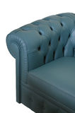 blå mörk lädersofa Royaltyfria Bilder