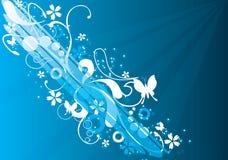 blå magi Arkivbilder
