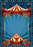 Blå magisk cirkusaffisch Arkivfoton
