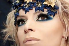 blå makeup Royaltyfri Bild