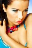 blå makeup fotografering för bildbyråer